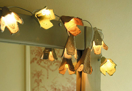 Make Fairy Flower Lights from Recycled Egg Cartons