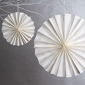Easy to make paper rosettes by Paper Source