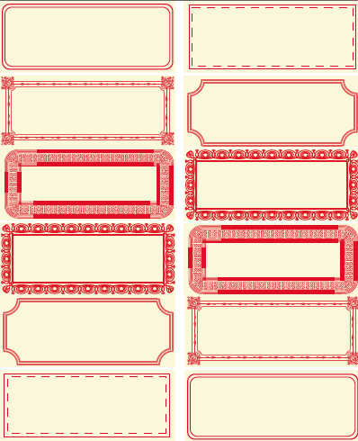 Free Printable Red Labels by PoppyTalk